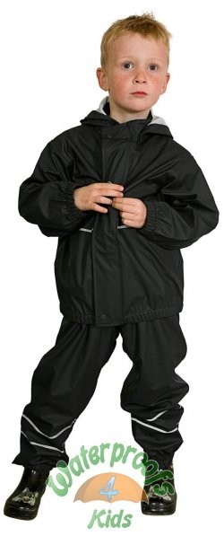 Elka Childrens Waterproof Suit in Black