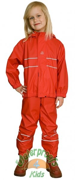 Elka Childrens Waterproof Suit in Red