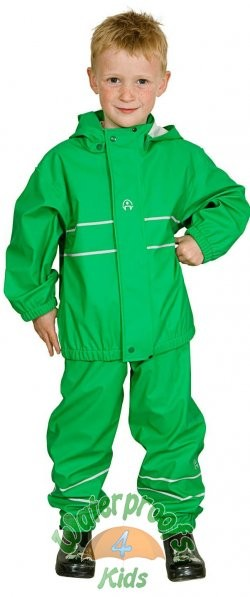 Elka Childrens Waterproof Suit in Green