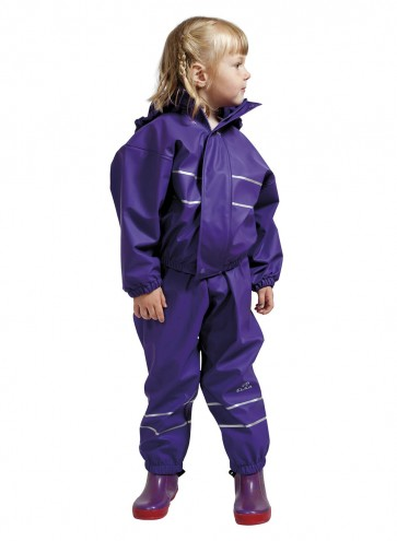 Elka Childrens Waterproof Suit in Purple