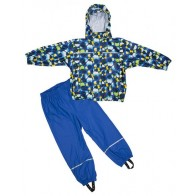 Elka Childrens Circles Waterproof Suit in Blue