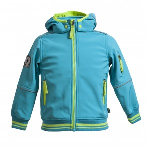 Softshell Bomber Jacket With Fleece Backing In Contrast Colour