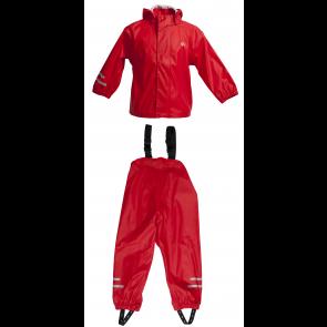 Red Elka two piece children's waterproof set